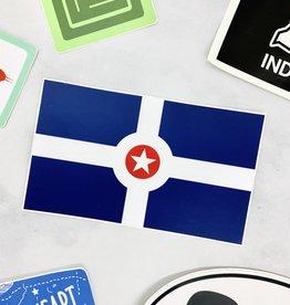 USI Indianapolis Flag Sticker