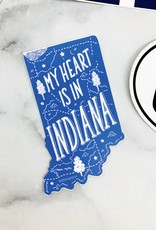 Noteworthy My Heart is in Indiana Sticker