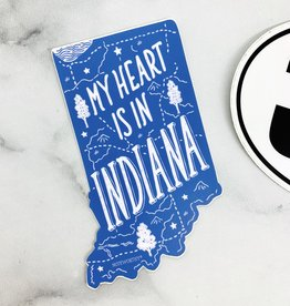 My Heart is in Indiana Sticker