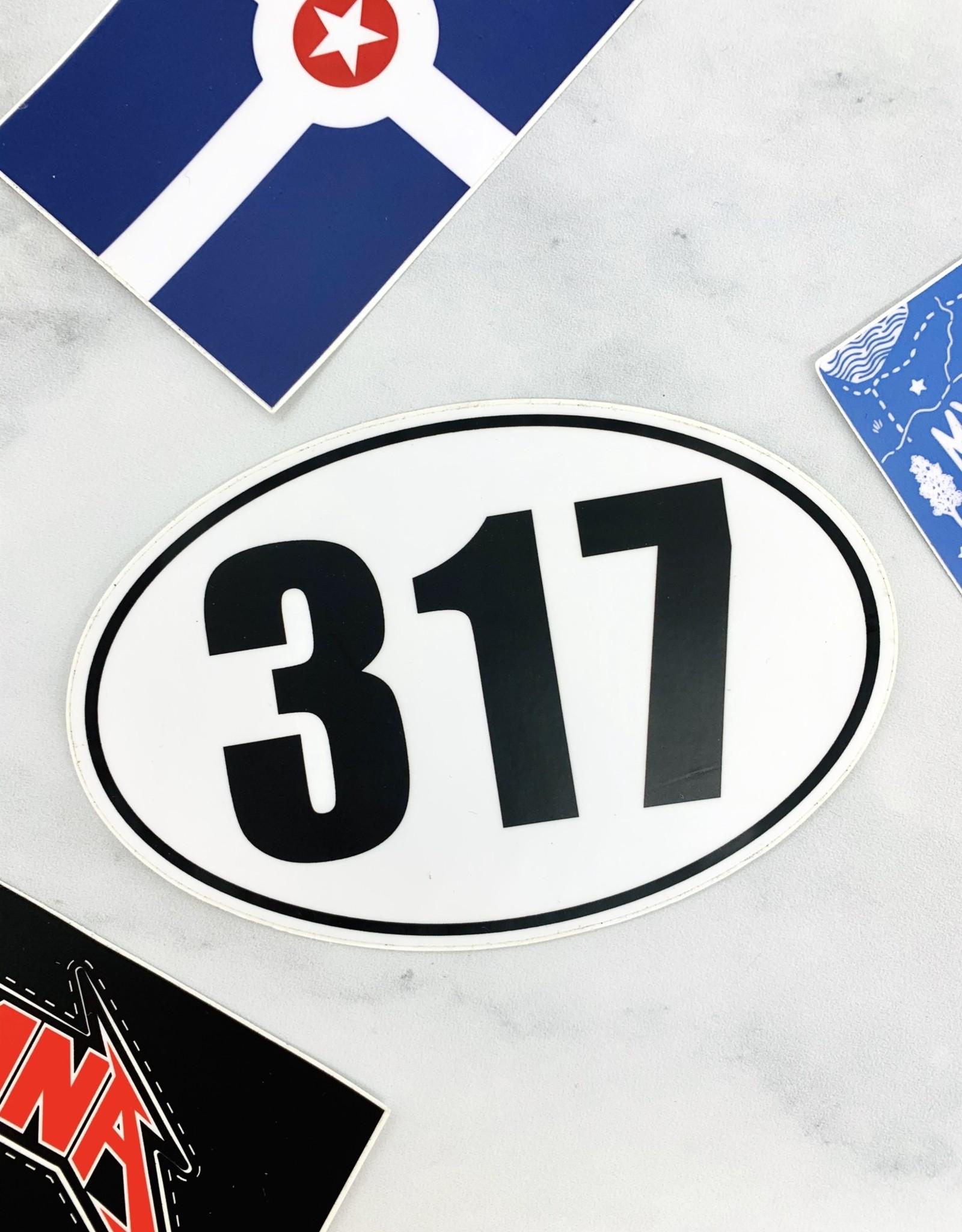 Oval 317 Sticker