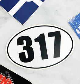 USI Oval 317 Sticker