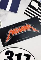 Metal Indiana Sticker