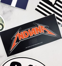 Metal Indiana Sticker