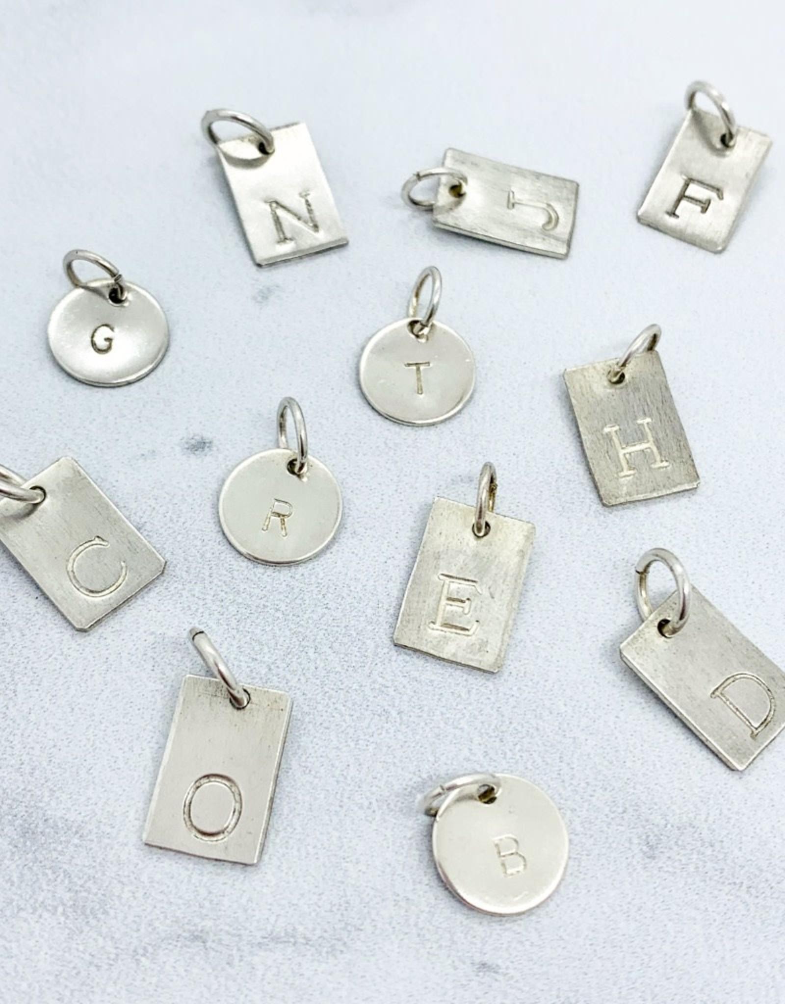 Silver Initial Pendant