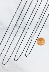 CGM Sterling Silver Oxidized Chain with Silver Stations