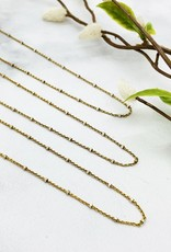 CGM Gold Plated Sterling Chain with Sterling Bead