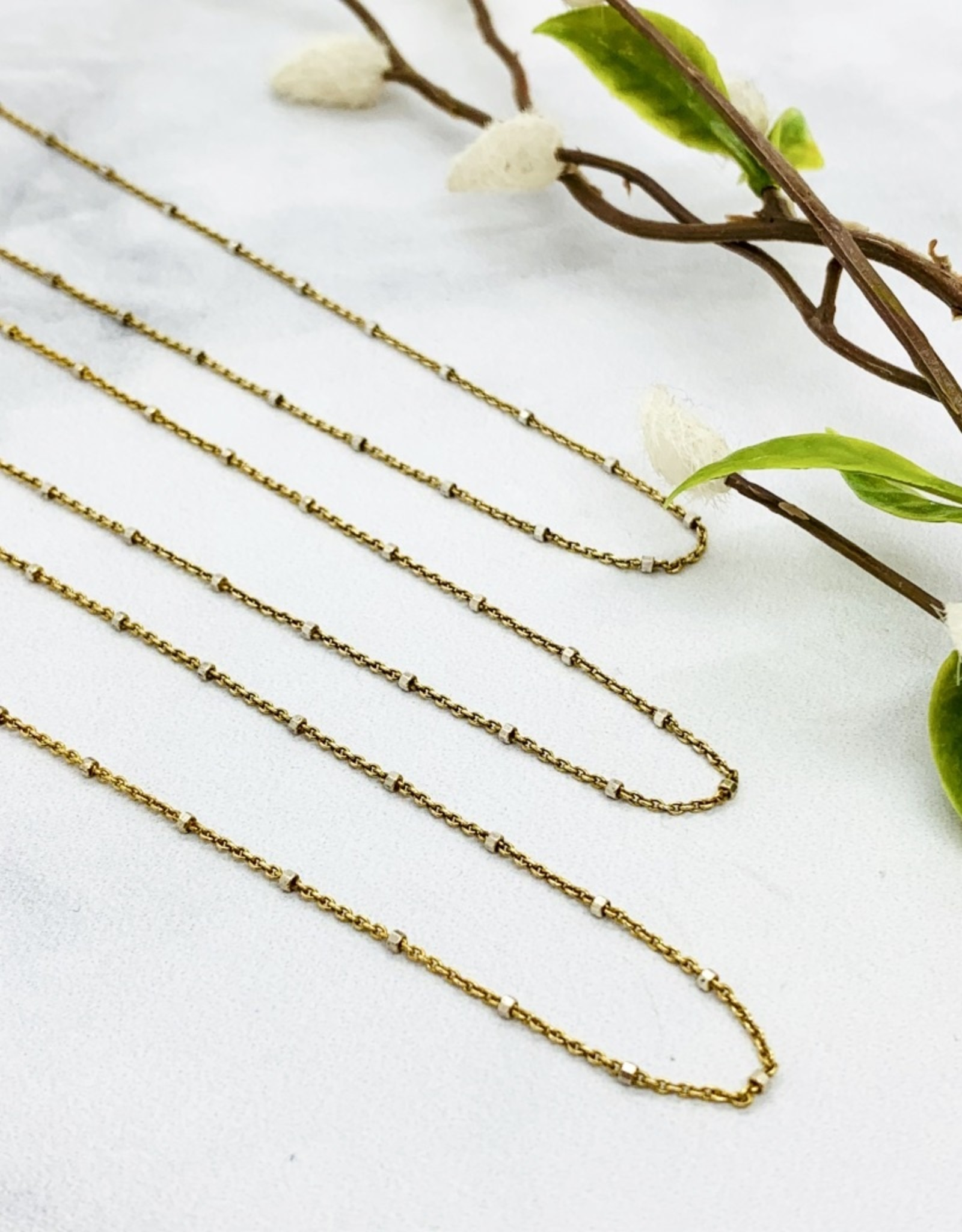 Gold Plated Sterling Chain with Sterling Bead