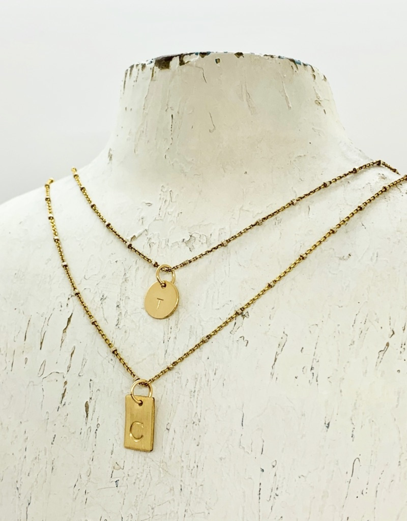 Gold Filled Initial Charm Pendant