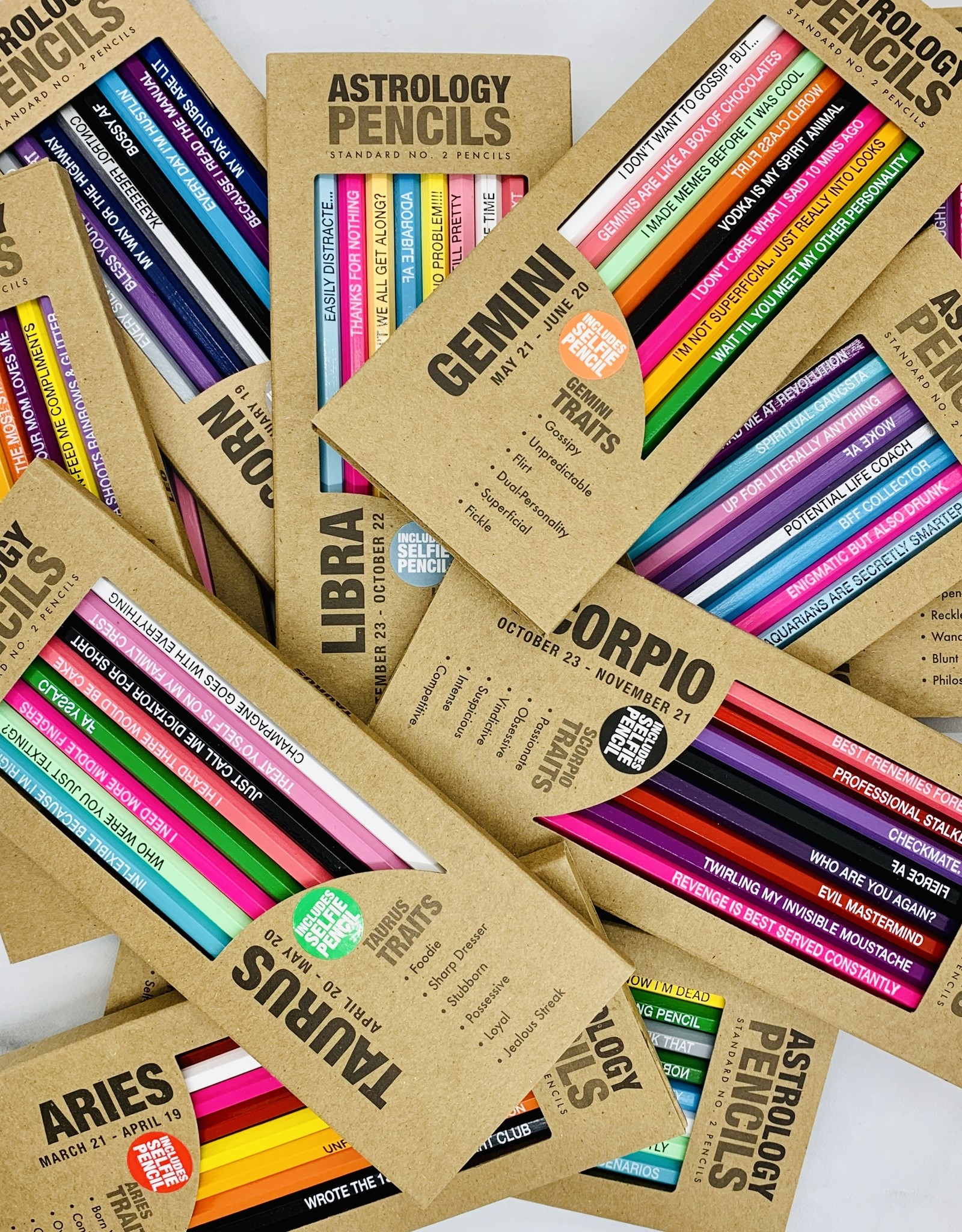 Whiskey River Soap Co Astrology Pencil Sets