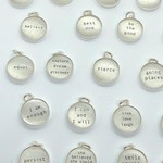 Lithograph Word Pendant