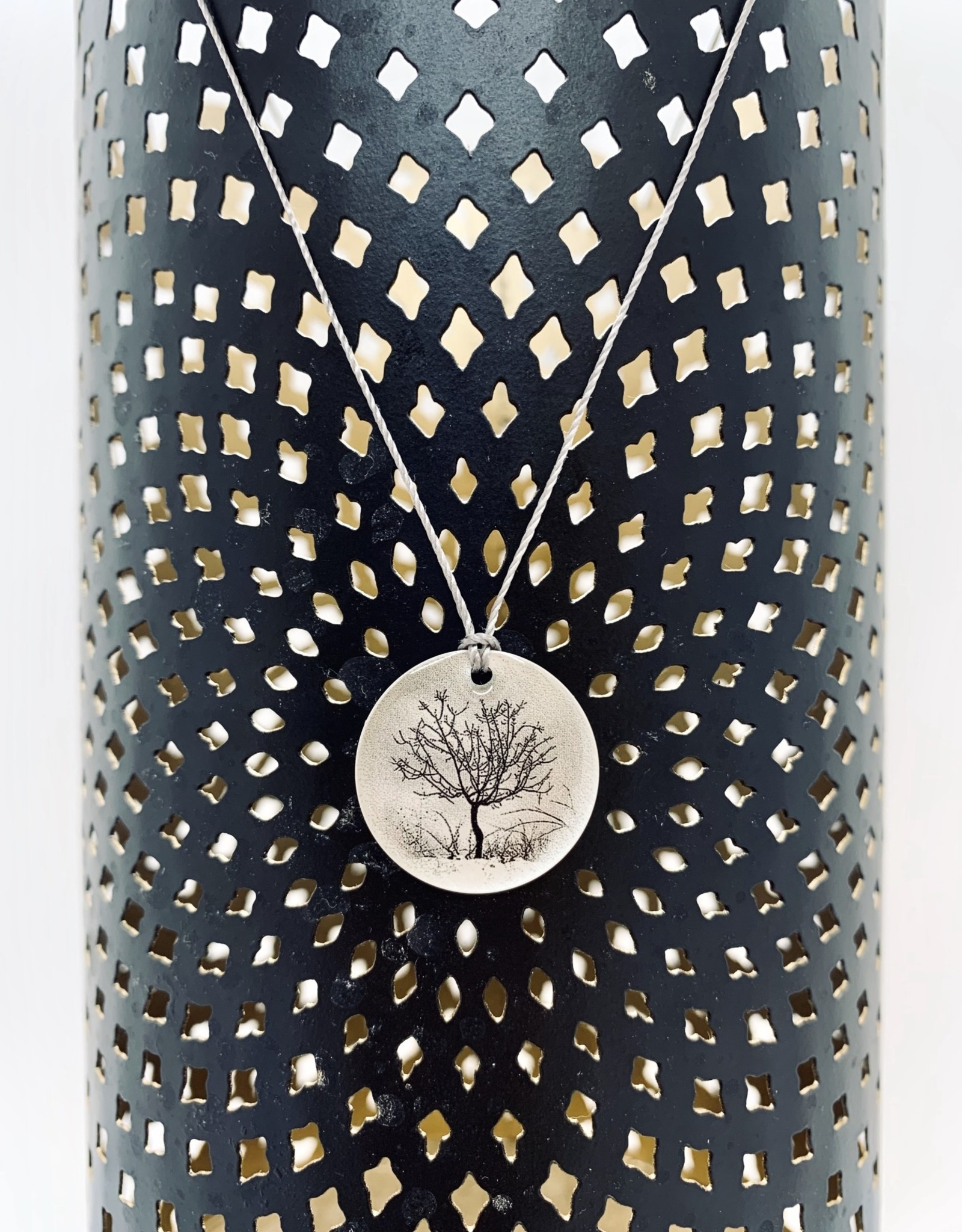 """Lithograph Photo Pendant on 18"""" Cord Necklace"""