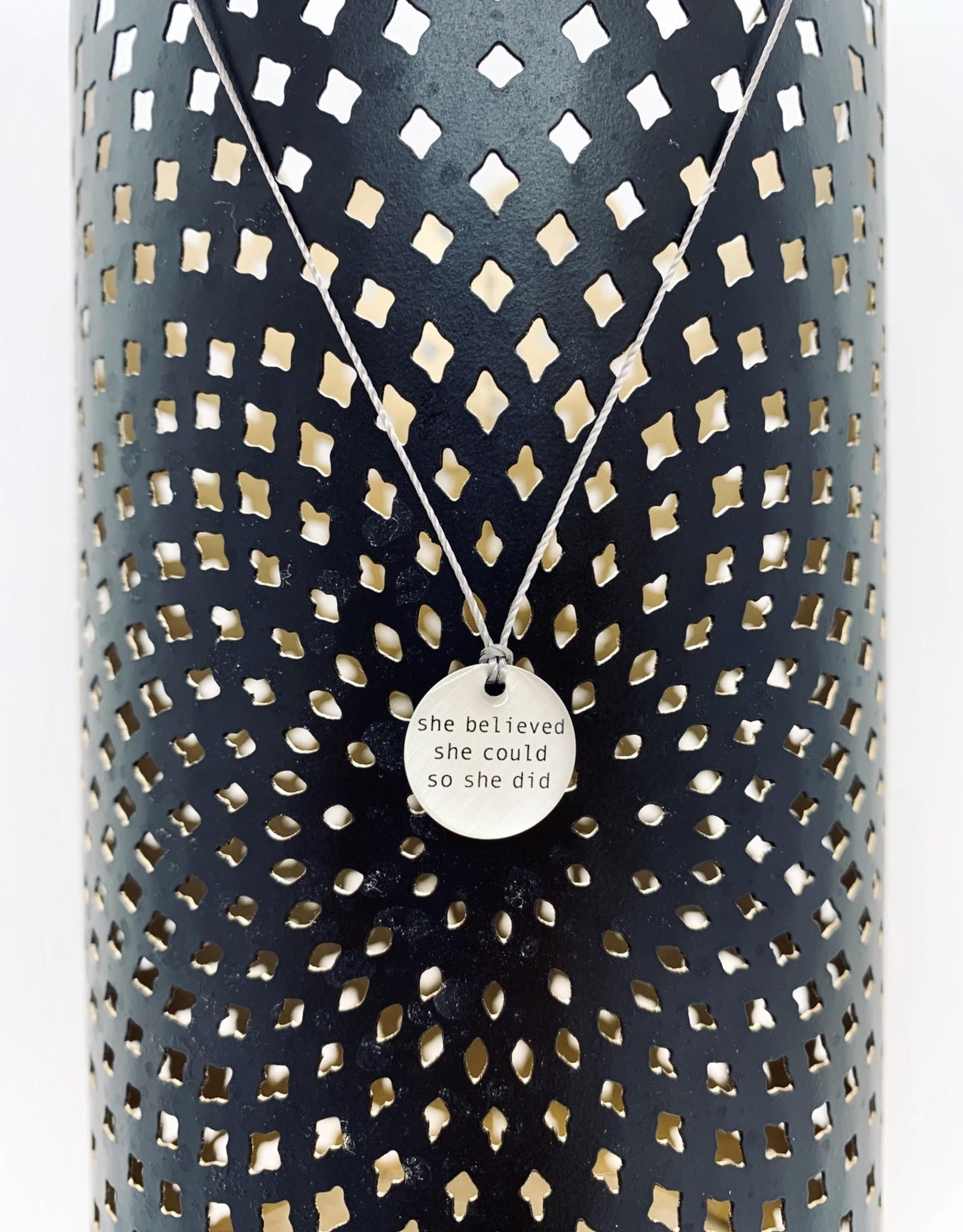 """Lithograph Mini Type Word Pendant on 16"""" Cord Necklace"""