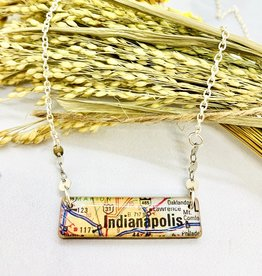 Vintage Map Necklace