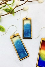 Handmade Gradient Rectangle Earrings