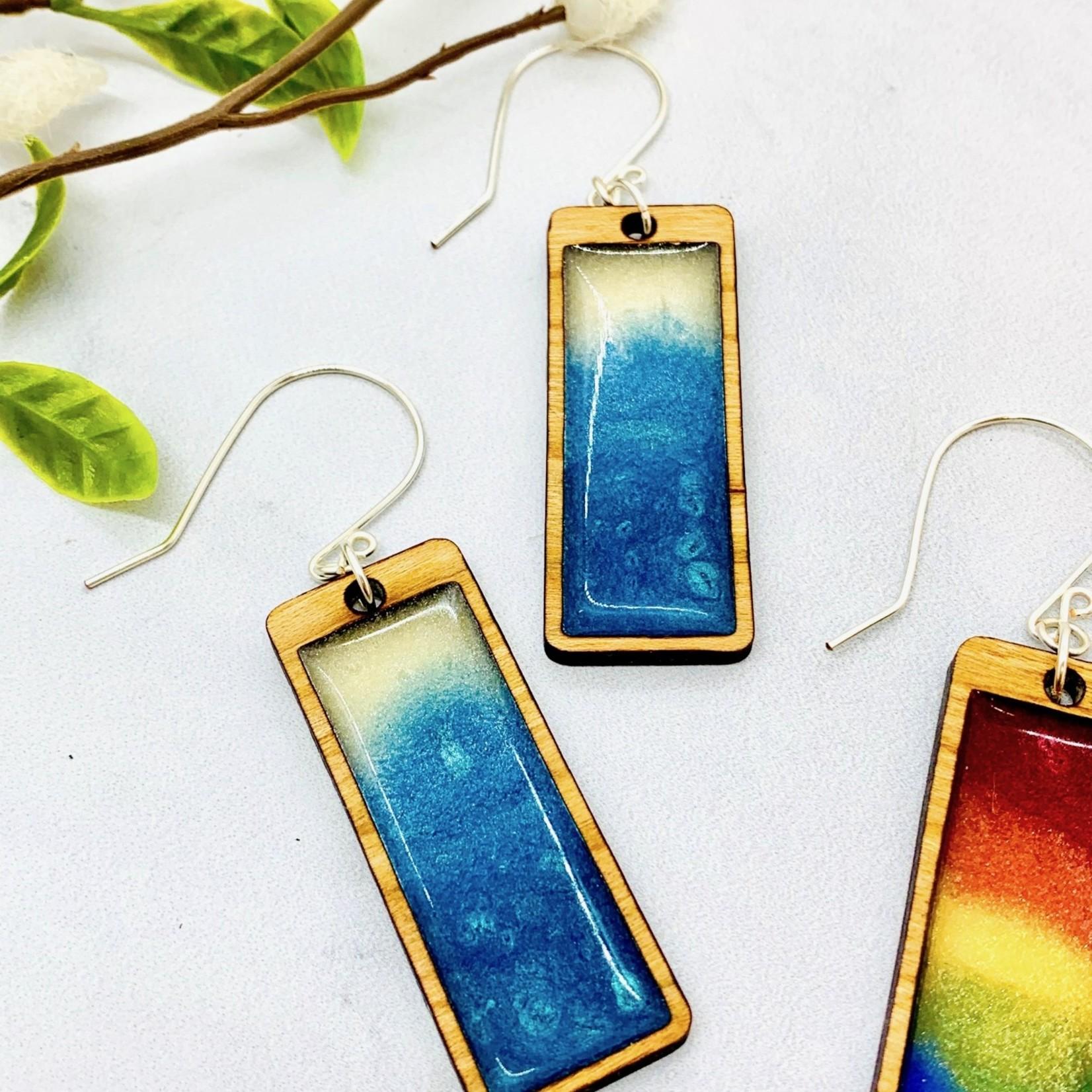 Handmade Gradient Rectangle Earrings