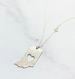 saraleathers Handstamped Hammered Heart Indiana Necklace 2