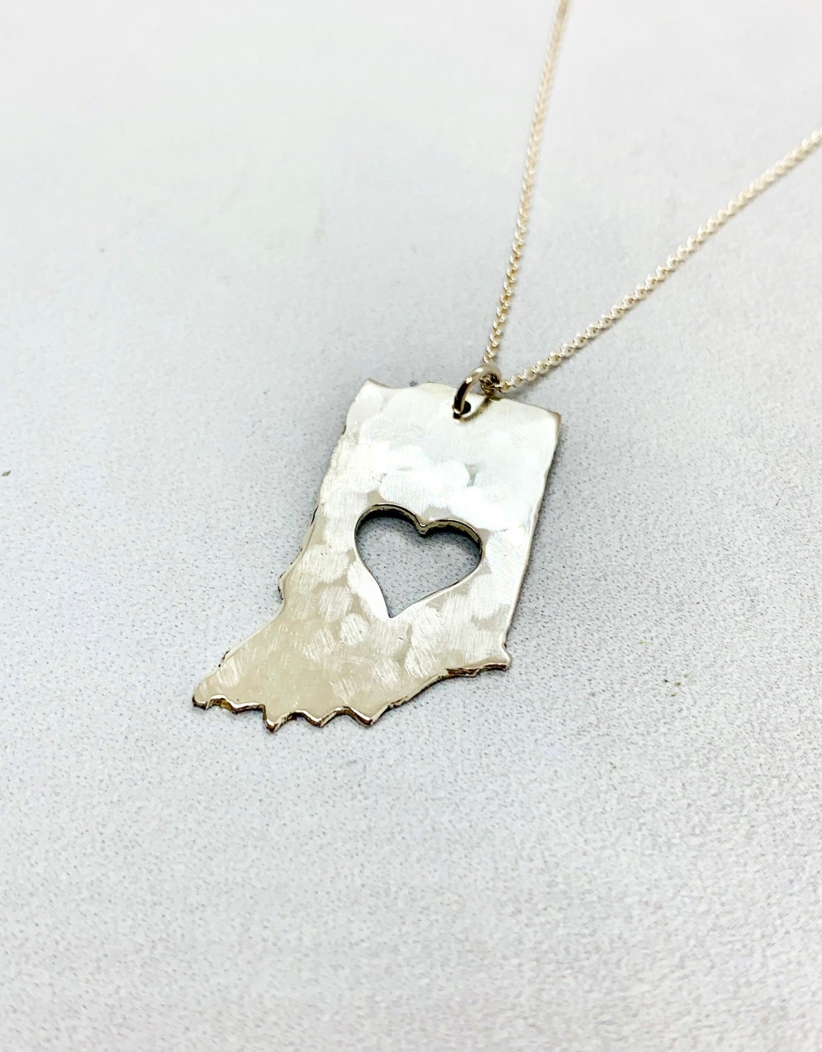 saraleathers Handstamped Hammered Heart Indiana Necklace 2