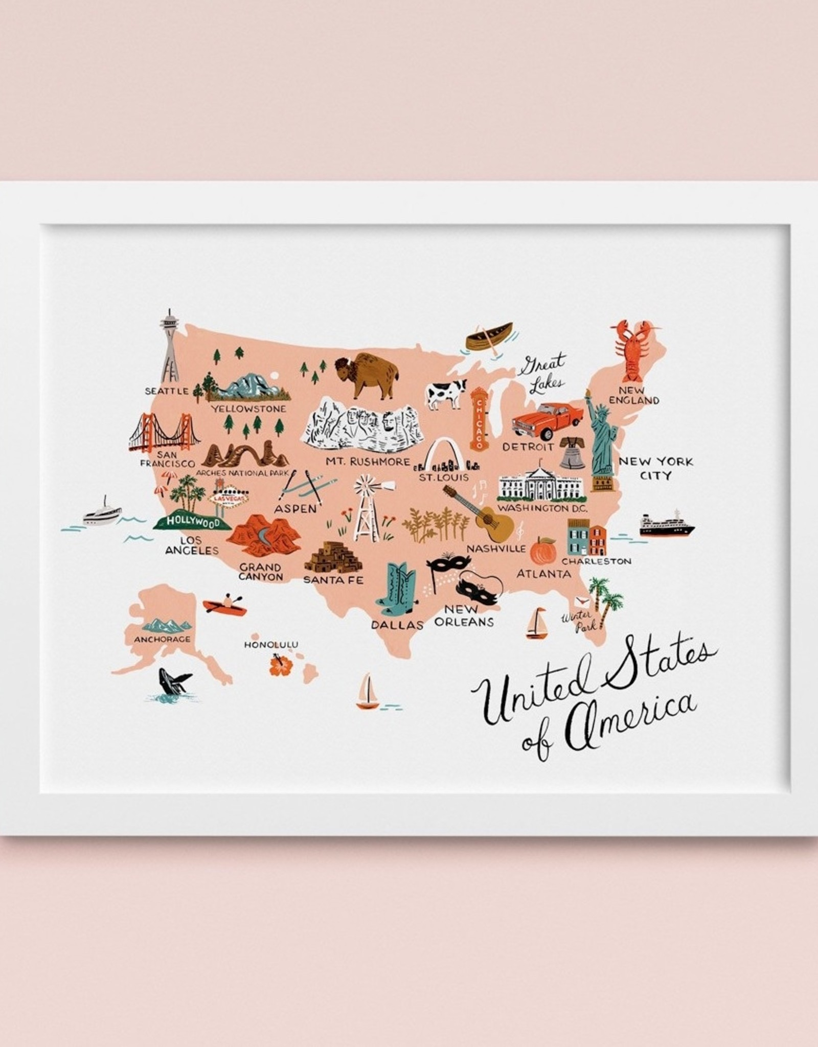 """Rifle Paper Co United States of America 11""""x17"""" Print"""