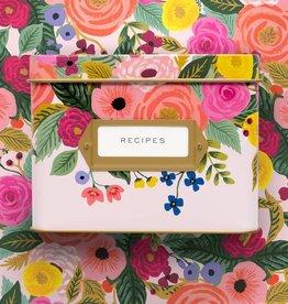 Juliet Rose Tin Recipe Box