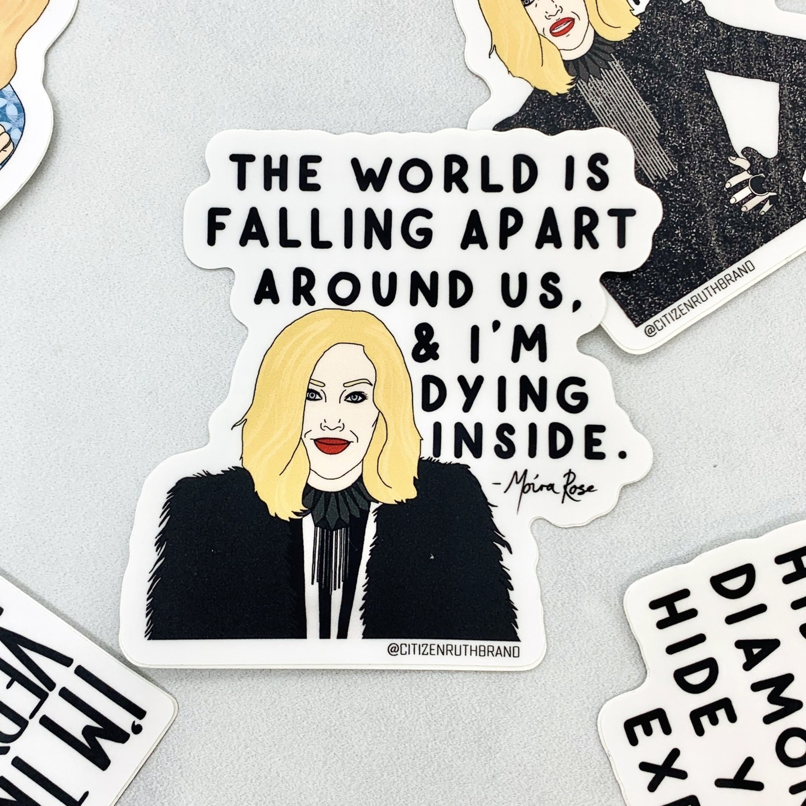 Moira World Falling Apart Sticker