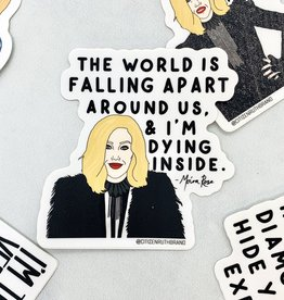 Citizen Ruth Moira World Falling Apart Sticker