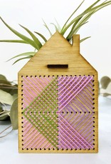 noshii Mini Embroidered House Air Plant Holder