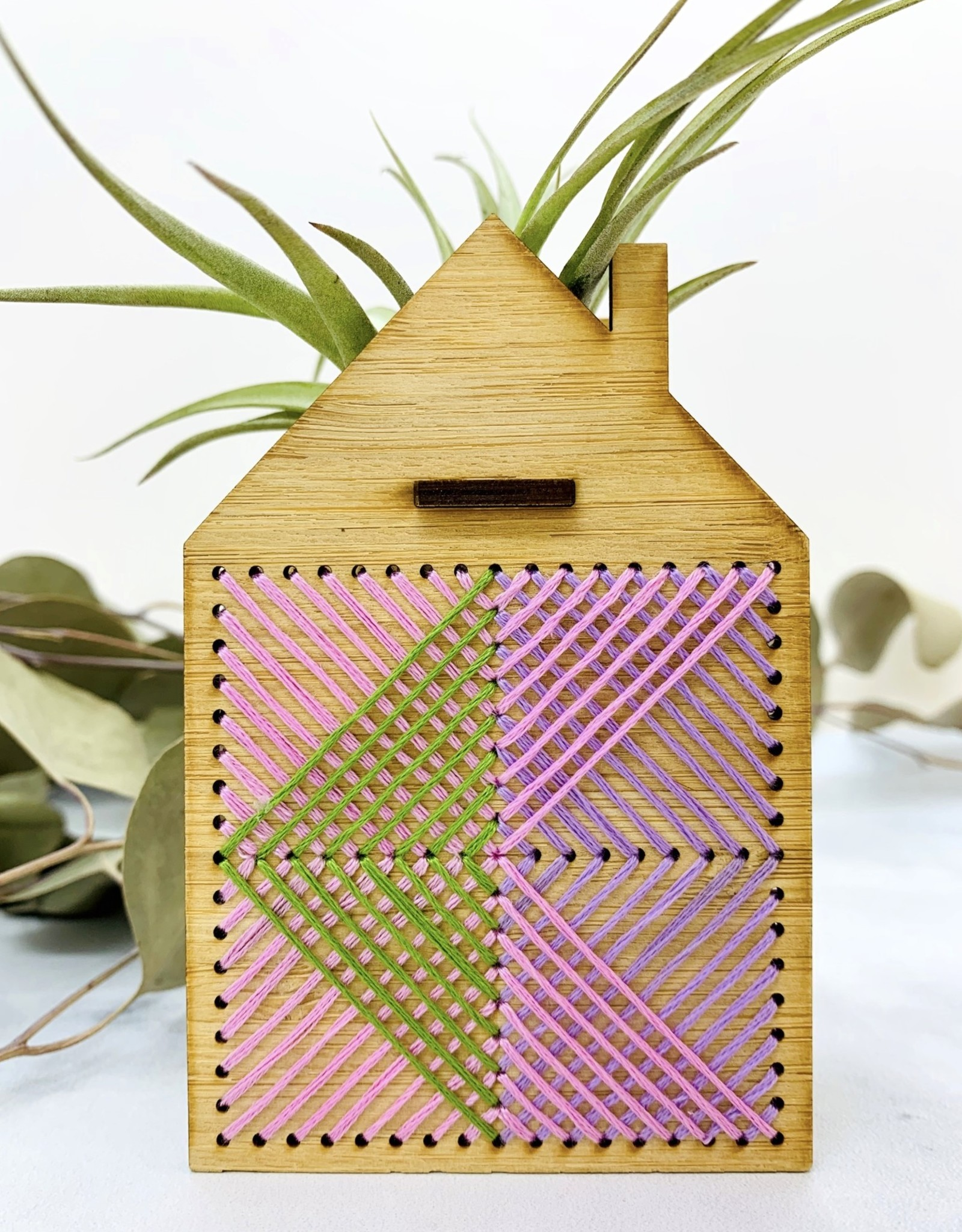 Mini Embroidered House Air Plant Holder