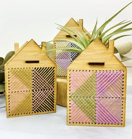 noshii Mini Embroidered House Air Plant Holder