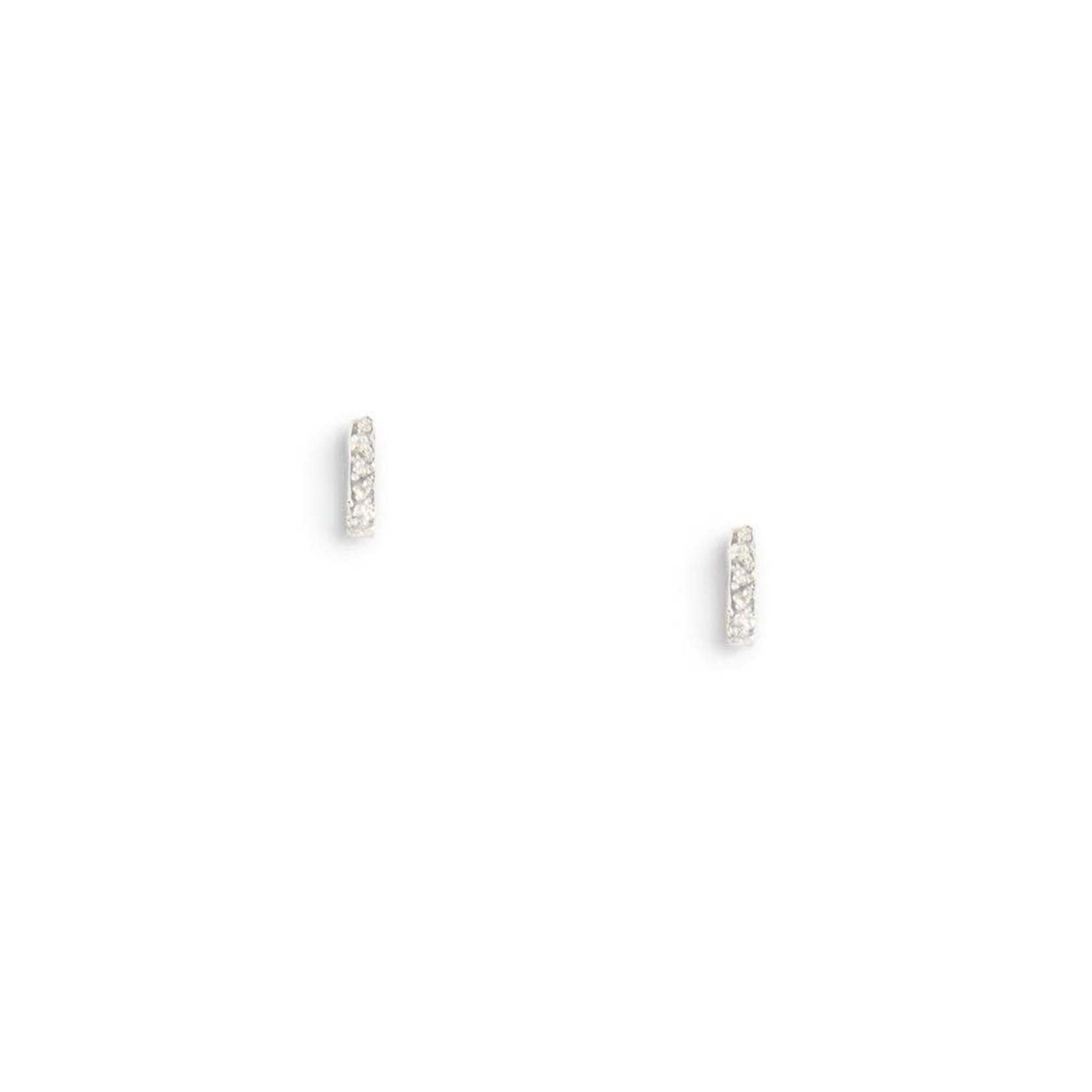 Diamond Dusted Column Earrings