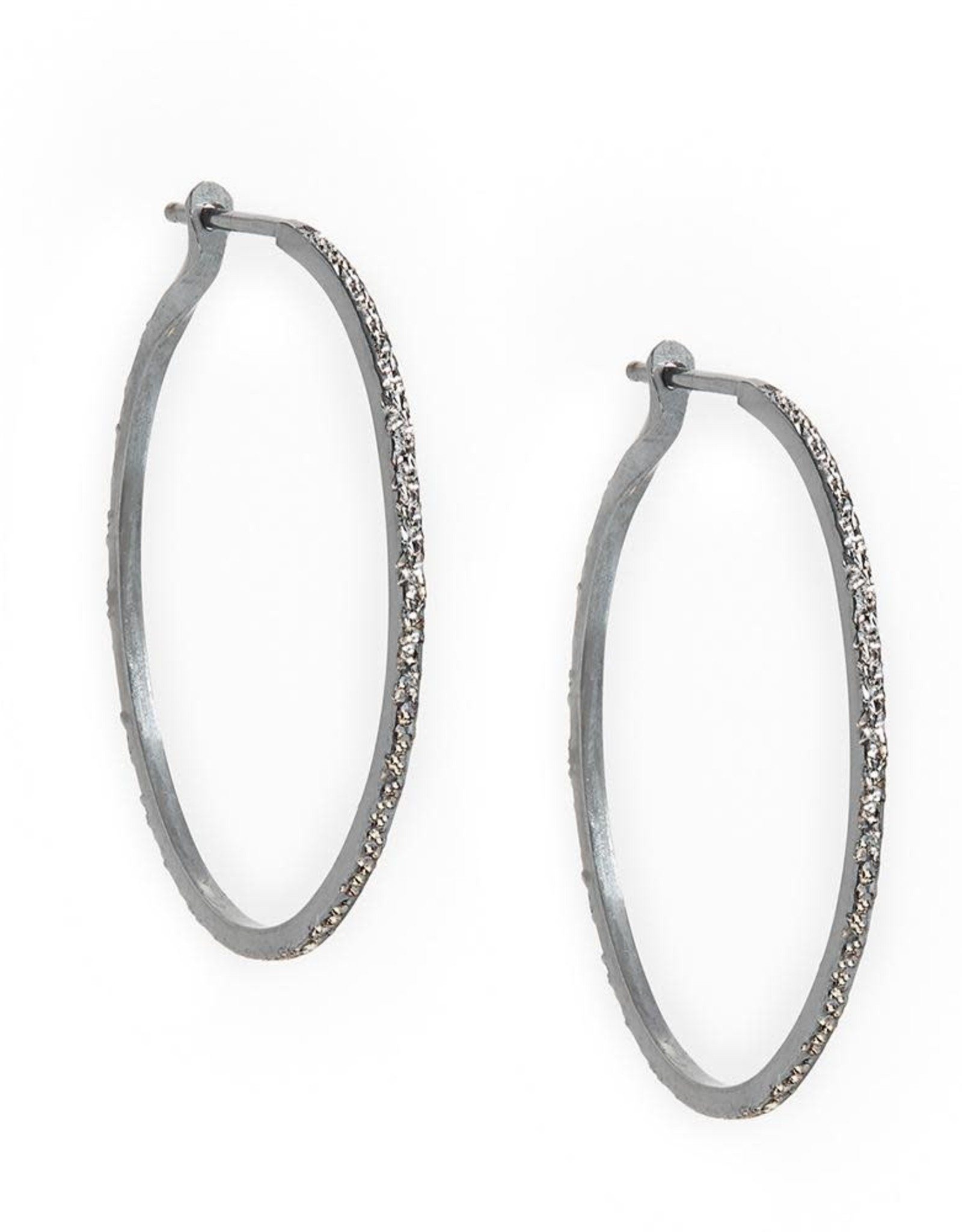Diamond Dusted Hoop Earrings