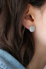 Diamond Dusted Camber Earrings, Silver
