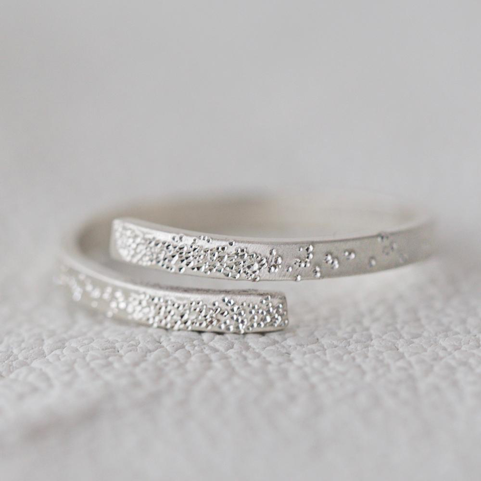 Sterling Silver Diamond Dusted Wrap InspiRING