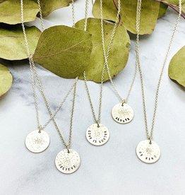 Christina Kober Diamond Dusted Silver Mini Coin Necklace