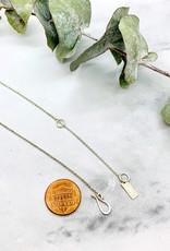 Diamond Dusted Silver Mini Coin Necklace