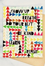 emily mcdowell Show Up, Breathe Card