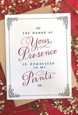 emily mcdowell Presence in My Pants Card