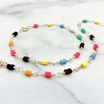 African Music Vinyl Bead Bloom Bracelet