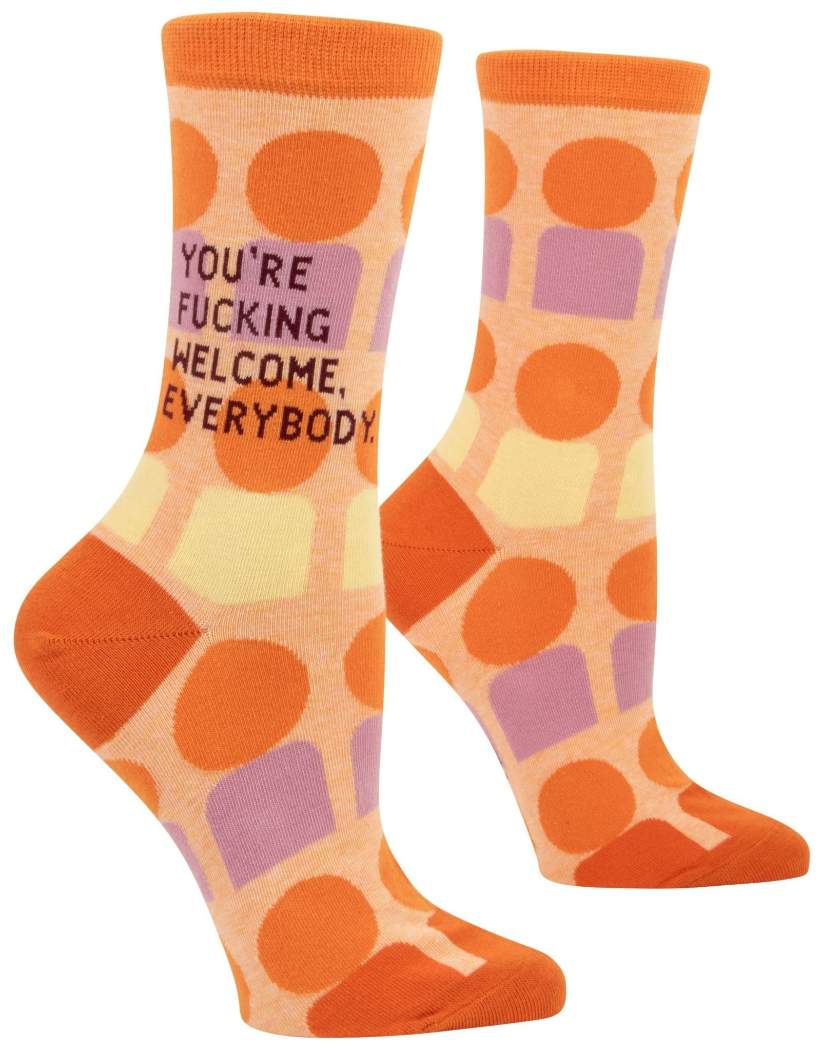 You're Fucking Welcome Women's Crew Socks
