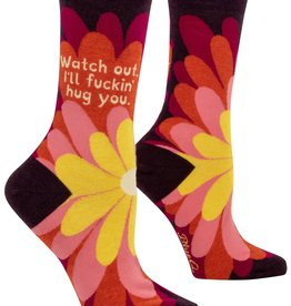 BlueQ I'll Fucking Hug You Women's Crew Socks