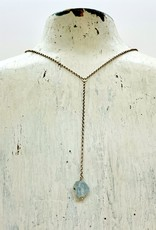 Handmade Sterling Silver Necklace with aquamarine nugget