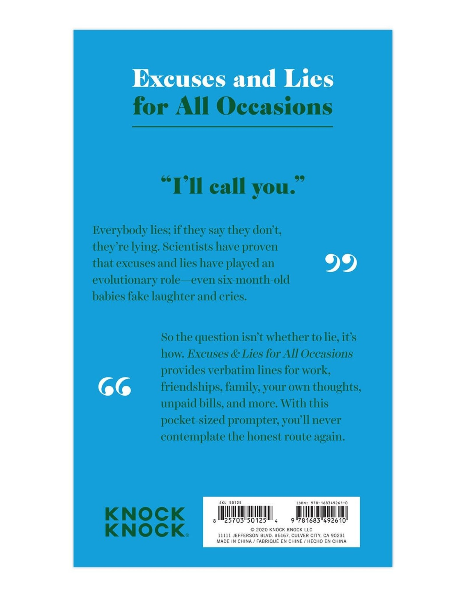 KnockKnock Paperback Lines For All Occasions
