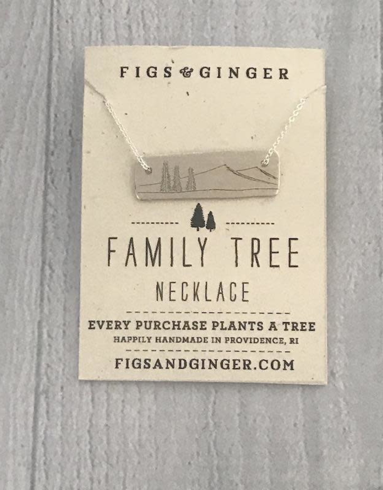 Sterling Silver Family Tree Necklace, 18""