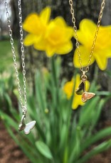 Dainty Butterfly Necklace, 16""