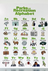 Abbie Paulhaus Parks and Rec Alphabet Print