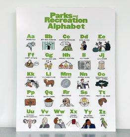 Parks and Rec Alphabet Print