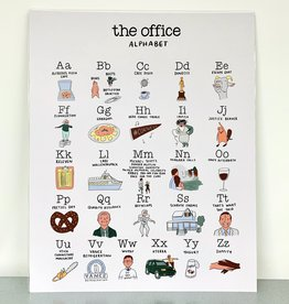 The Office Alphabet Print