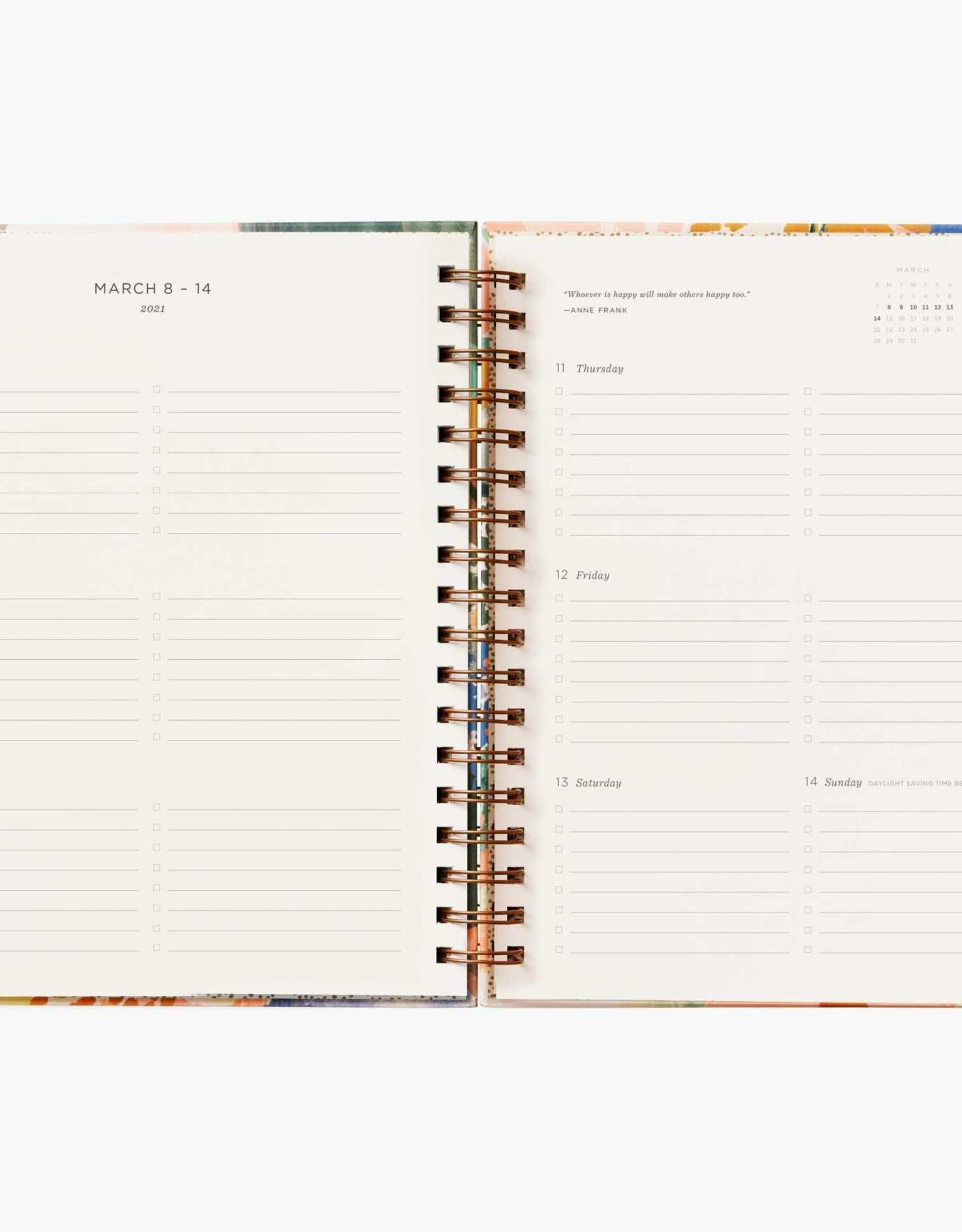 Rifle Paper Co Rifle Paper 2021 Hardcover Spiral Planner
