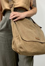 Peg&Awl The LARGE Finch Satchel in Spice Waxed Canvas and Antique Leather
