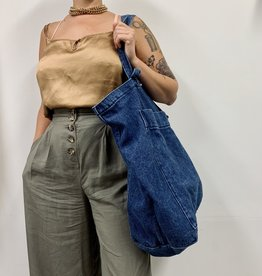 Dark Denim Giant Pocket Tote