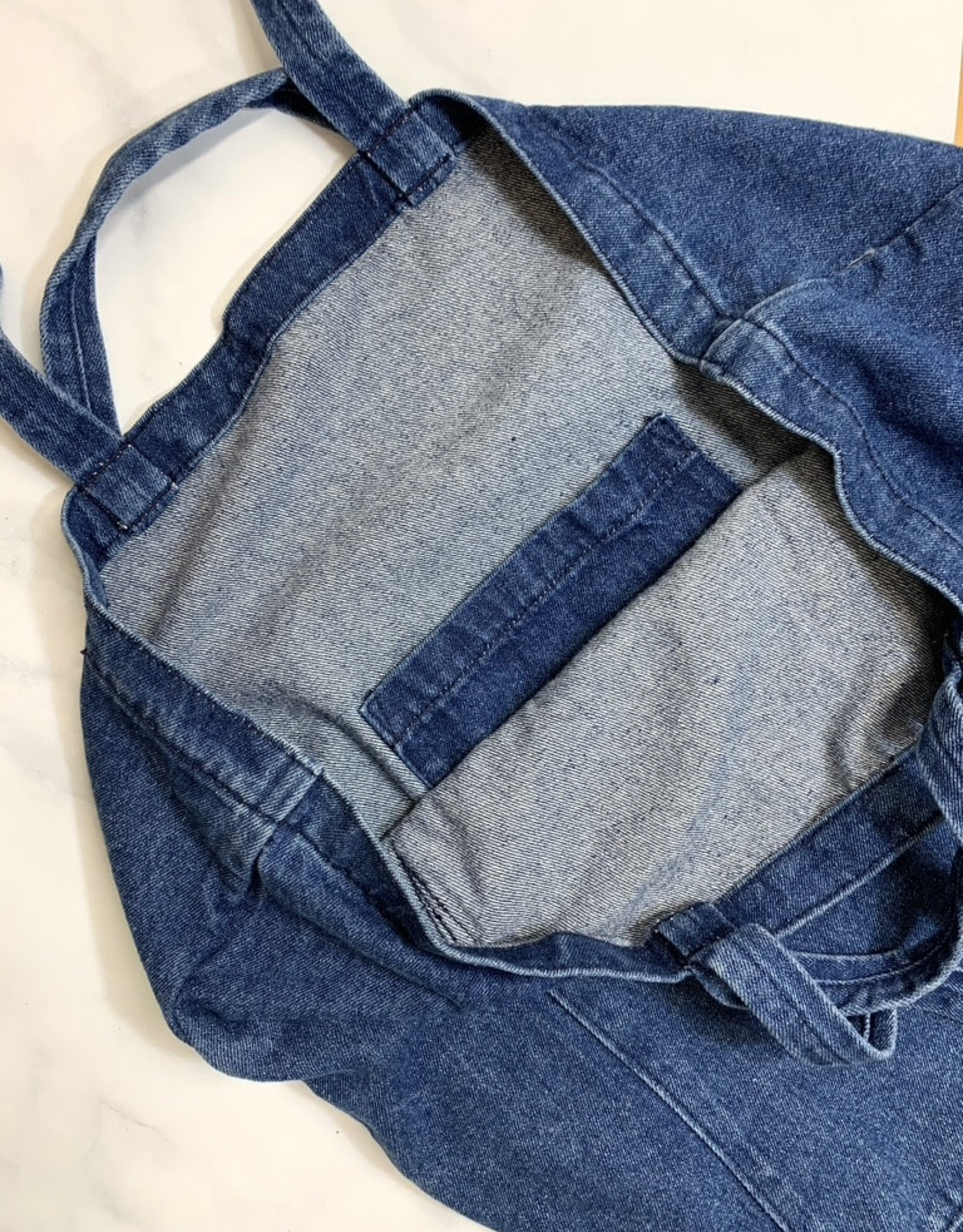 Dark Denim Giant Pocket Tote by Peg and Awl